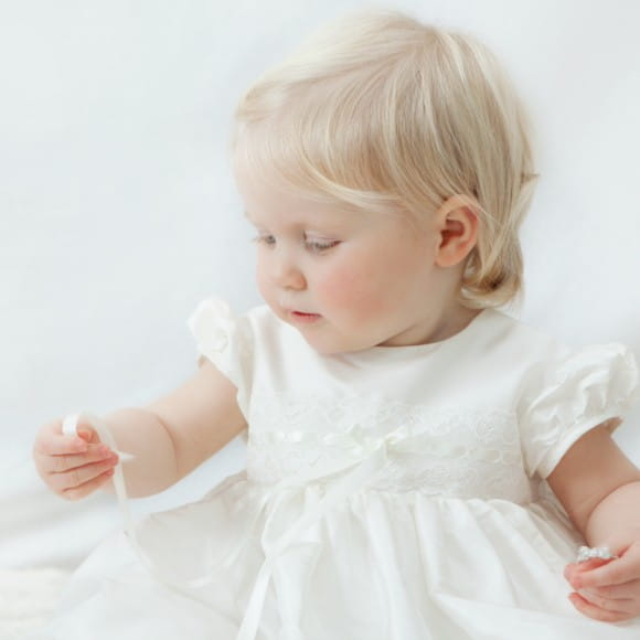 30a0d721830 Adore Baby | Silk and lace Christening gowns for girls. Baptism gown ...