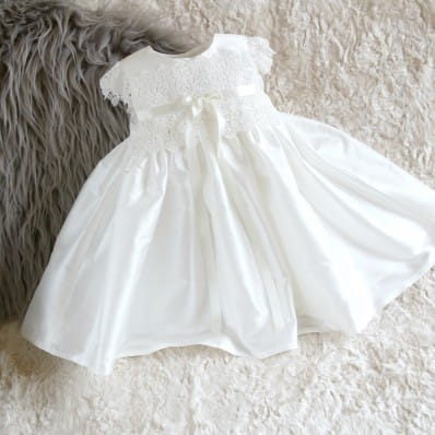 ef663fc2ced1 Adore Baby | Rachel Silk and Lace Personalised Christening dress