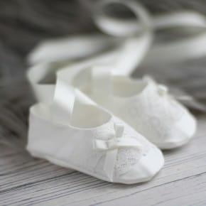 Coco Christening booties