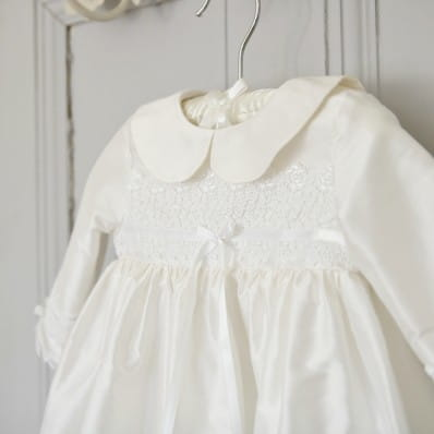 4358bc27 Adore Baby | Isla winter Christening gown with long sleeves