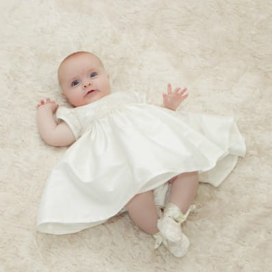 406ccba3086 Adore Baby | Chloe Silk and Lace Christening dress