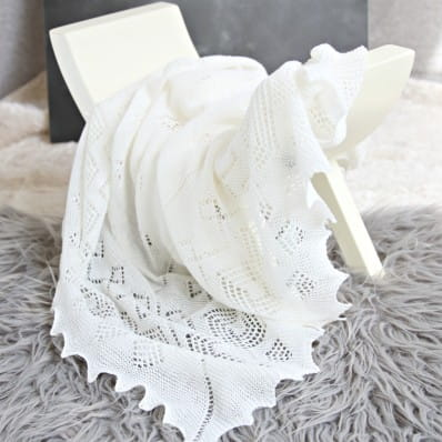 Adore Baby Prince George Christening Shawl