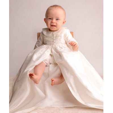Adore Baby | Silk Christening Gown Coat