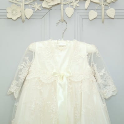 Charlotte Silk And Lace Christening Gown