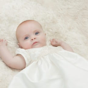 Chloe Silk and Lace Christening Gown